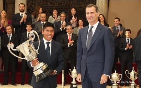 Nairo Quintana es el mejor deportista iberoamericano de 2014