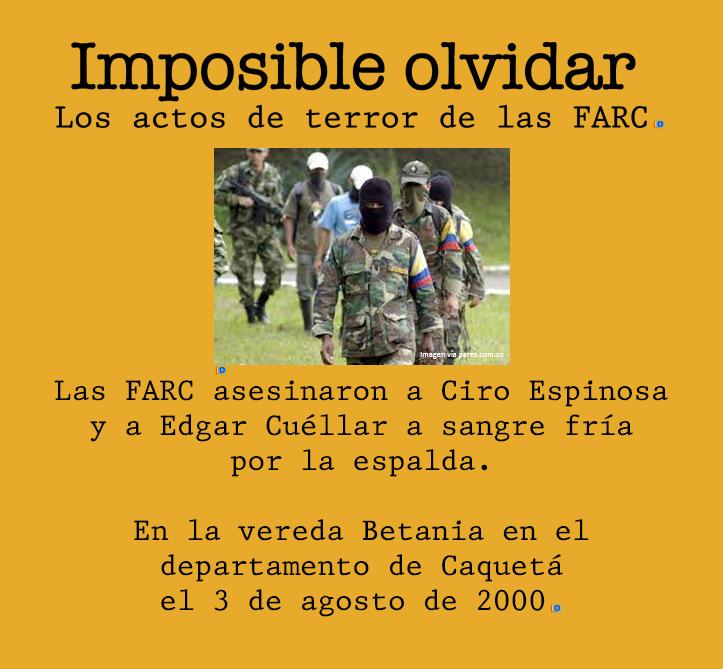 Santos perdona otro asesinato de las FARC