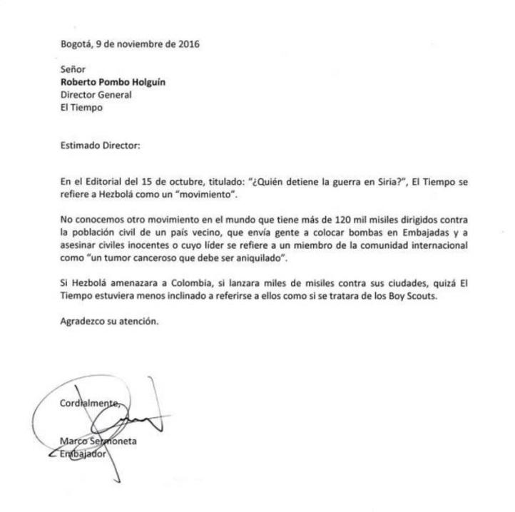carta-embajador-de-israel