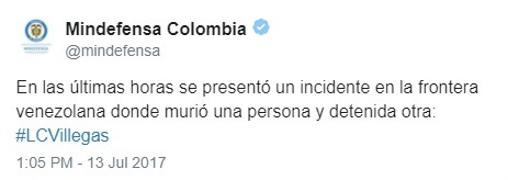 muere colombiano